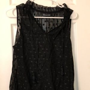 7th Avenue Black sheer top by New York & Co. SZ M